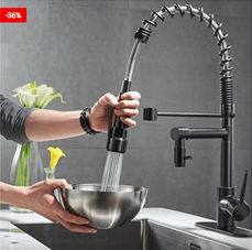 Kitchen Faucet With Sprayer Swivel Type